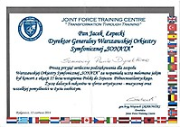 List gratulacyjny gen. bryg. Wojciecha Grabowskiego